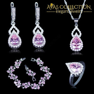 Vintage Russian Style Purple Jewelry Set - Avas Collection
