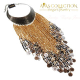 Resin Tassels Bib Necklace Choker Necklaces