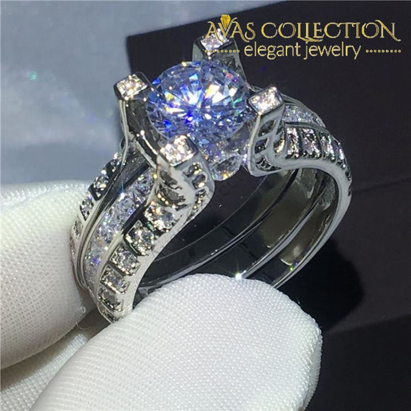 8mm 10k White Gold Filled Wedding Ring - Avas Collection