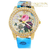 Flower Rhinestone Watch Womens Watches
