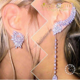 Luxury fashion  Lotus leaf Earrings - Avas Collection