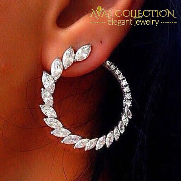 Luxury Designer Fashion 925 Sterling Silver Earrings - Avas Collection