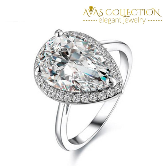 Classic Water Drop 2 Carat Engagement Ring - Avas Collection