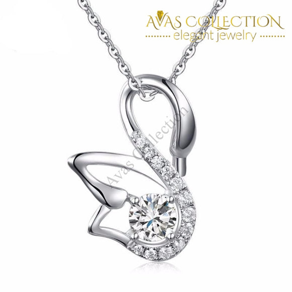 Swan Pendant Necklace Pendants