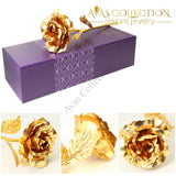 24K Gold Rose With Love Stand Artificial & Dried Flowers