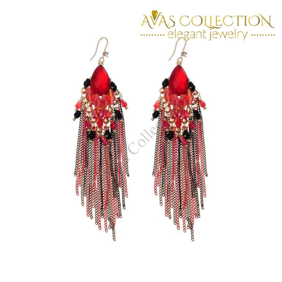 Long Tassel Earrings Drop
