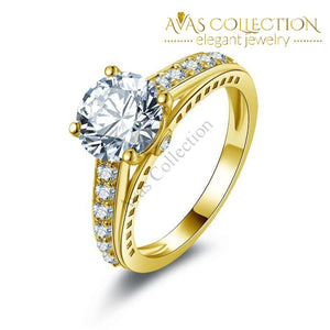 2 Ct Lovers Engagement Ring 10Kt Yellow Gold Rings