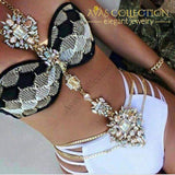Rhinestone Sunflower Body Chain Necklace Necklaces