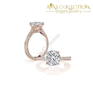 Luxury -3 Ct Sona Diamond Engagement Ring Rings