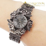 Vintage Flower Bracelet Watch Womens Watches