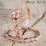 2 Pcs/Set GP Rose Gold - Avas Collection