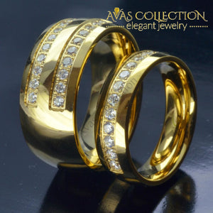 His & Hers/  Gold Tone Stainless Steel - Avas Collection