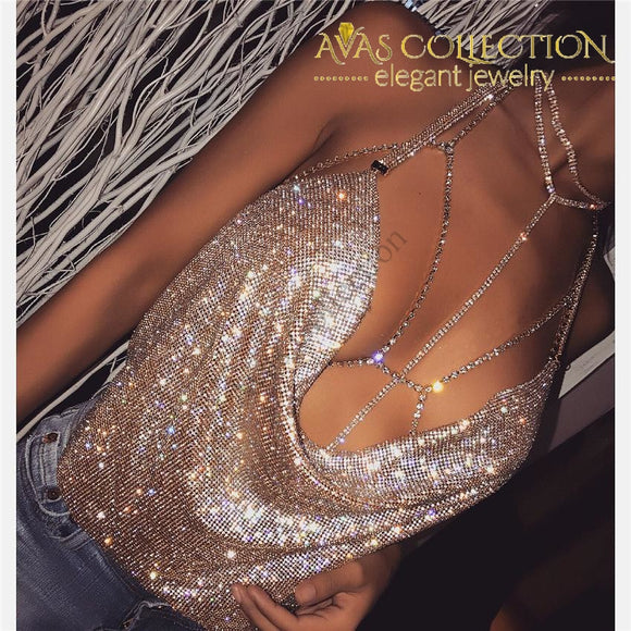 Sexy Sequins Top Chain Necklaces