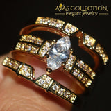 3 In 1 Marquise Cut Rings