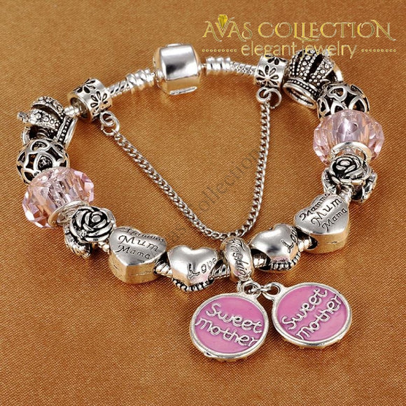 Sweet Mother Charm Bracelet /Mother's Day Jewelry gift - Avas Collection