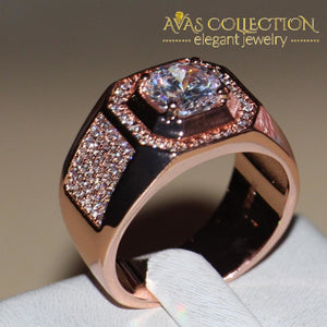 3 Carat Rose Gold Wedding Band Rings
