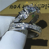 Princess Cut Emily Wedding Ring Set - Avas Collection