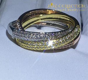 Twisted 3 In 1 Eternity Ring Engagement Rings