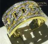 Hiphop Iced Out Mens Ring Rings