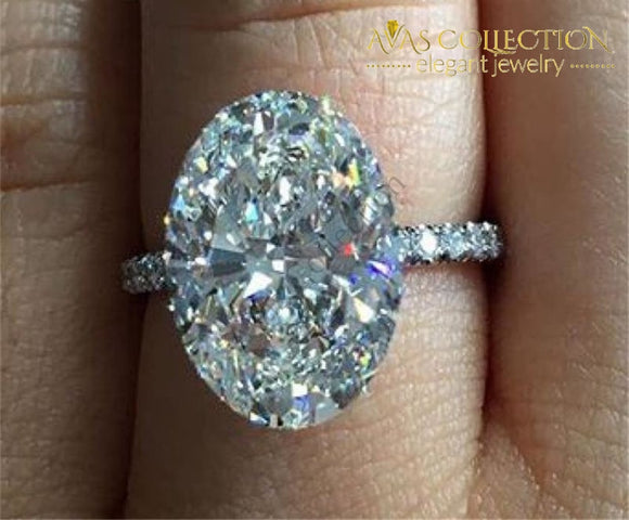 Stunning Oval Cut Engagement/anniversary/ Promise Ring Engagement Rings