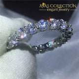 Lovers Wedding Ring Set Cushion Cut 8Ct 5 / 2 Engagement Rings