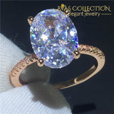 Choucong Luxury Lovers Ring Set 925 Sterling Silver Oval Cut 3Ct Aaaaa Cz Party Wedding Band Rings