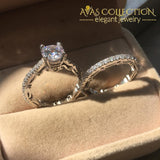 Unique Luxury Wedding Ring Set Engagement Rings
