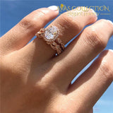 Vintage Promise Ring Flower Design Rose Gold Engagement Rings