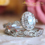 Vintage Promise Ring Flower Design Rose Gold - Avas Collection