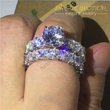 Princess Cut High Quality Rachel Wedding Set Engagement Rings