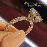 Luxury  Round & Oval White Gold Filled Engagement/ Anniversary Ring - Avas Collection