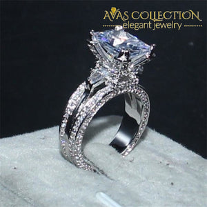 Luxury 10Ct Eiffel Tower Engagement Ring Rings