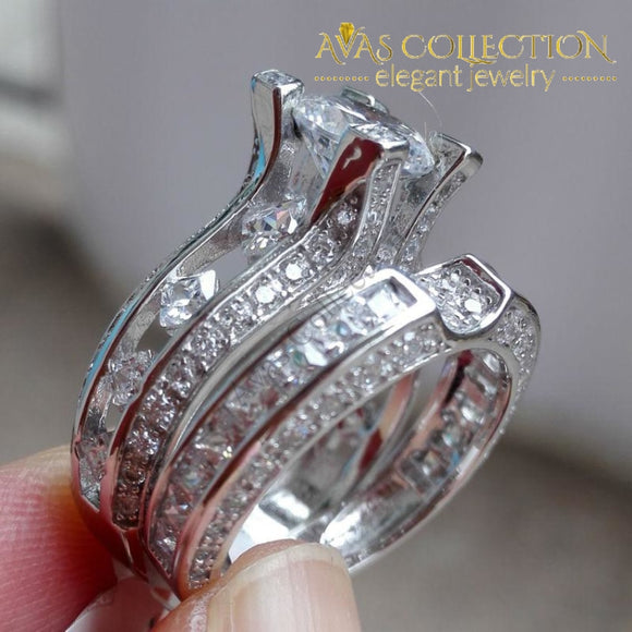 2.3Ct Round Cut Bridal Set Rings