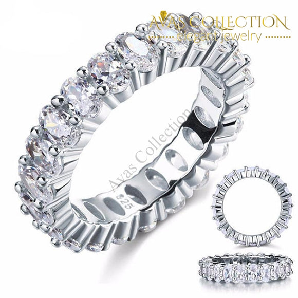 Oval Cut Eternity Band Rings