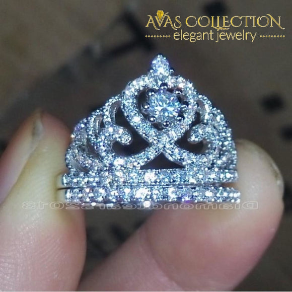 Wedding Crown Ring Set Rings
