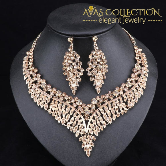 Leaf Statement Necklace Set Jewelry Sets