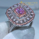 Sparkling Luxury Pink Ring Rings