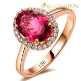 5 Carat Red 18k Rose Gold Filled RIng - Avas Collection