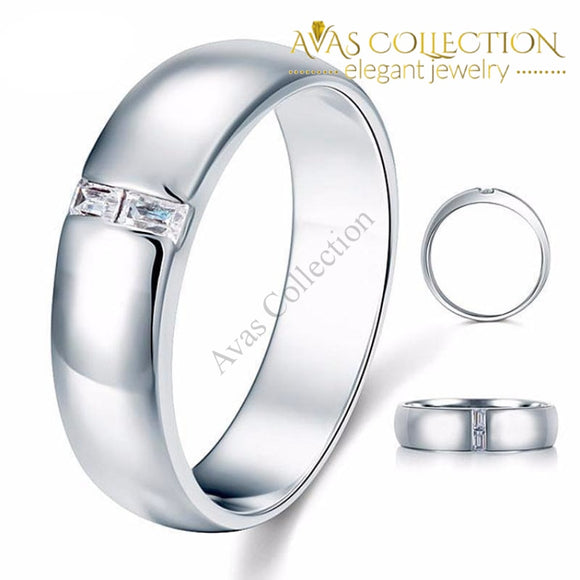 Mens Wedding Band With Stone Rings