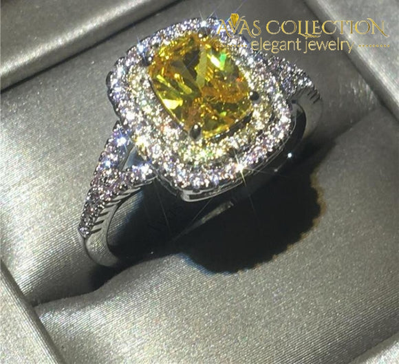 1 Carat Yellow Ring Rings