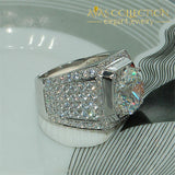 Luxury 4Ct White Gold Filled Ring Rings