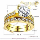 Promise Engagement Double Ring Rings