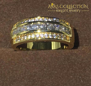 Yellow Gold Filled Mens Band 7-13 Rings