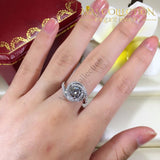 2Ct Engagement Twist Ring Rings