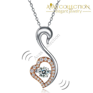 Dancing Stone Necklace 925 Sterling Silver Good For Wedding Bridesmaid Gift