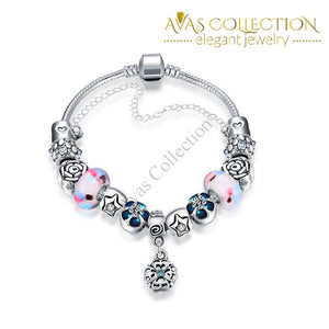 Ice Cream Flavor Pandora Inspired Bracelet Made with Swarovski Elements - Avas Collection