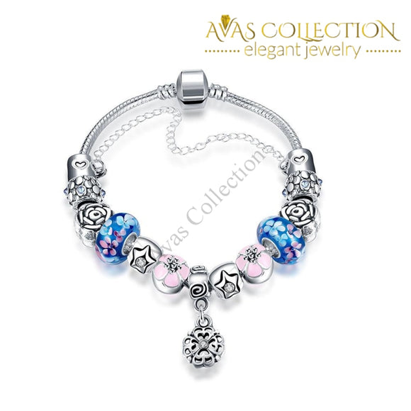 Blue Raspberry Flavored Pandora Inspired Bracelet Made With Swarovski Elements
