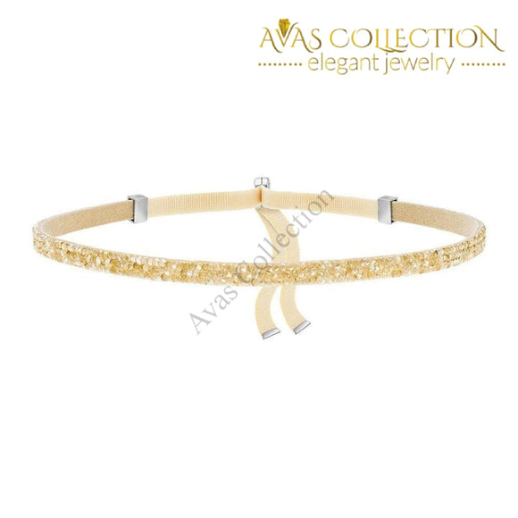 Made With Swarovski Crystal Choker Necklace - Gold