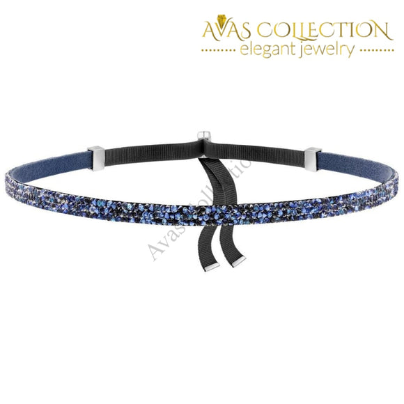 Made With Swarovski Crystal Choker Necklace - Blue