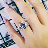 Solid 925 Sterling Silver -R4337 Engagement Rings